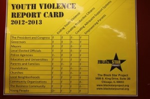 The City of Chicago was given a failing grade on it's Youth Violence Report Card.