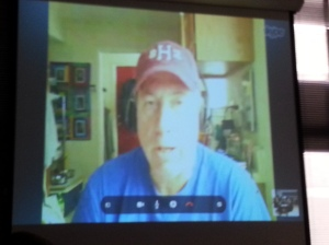 Sig Christenson during a Skype interview
