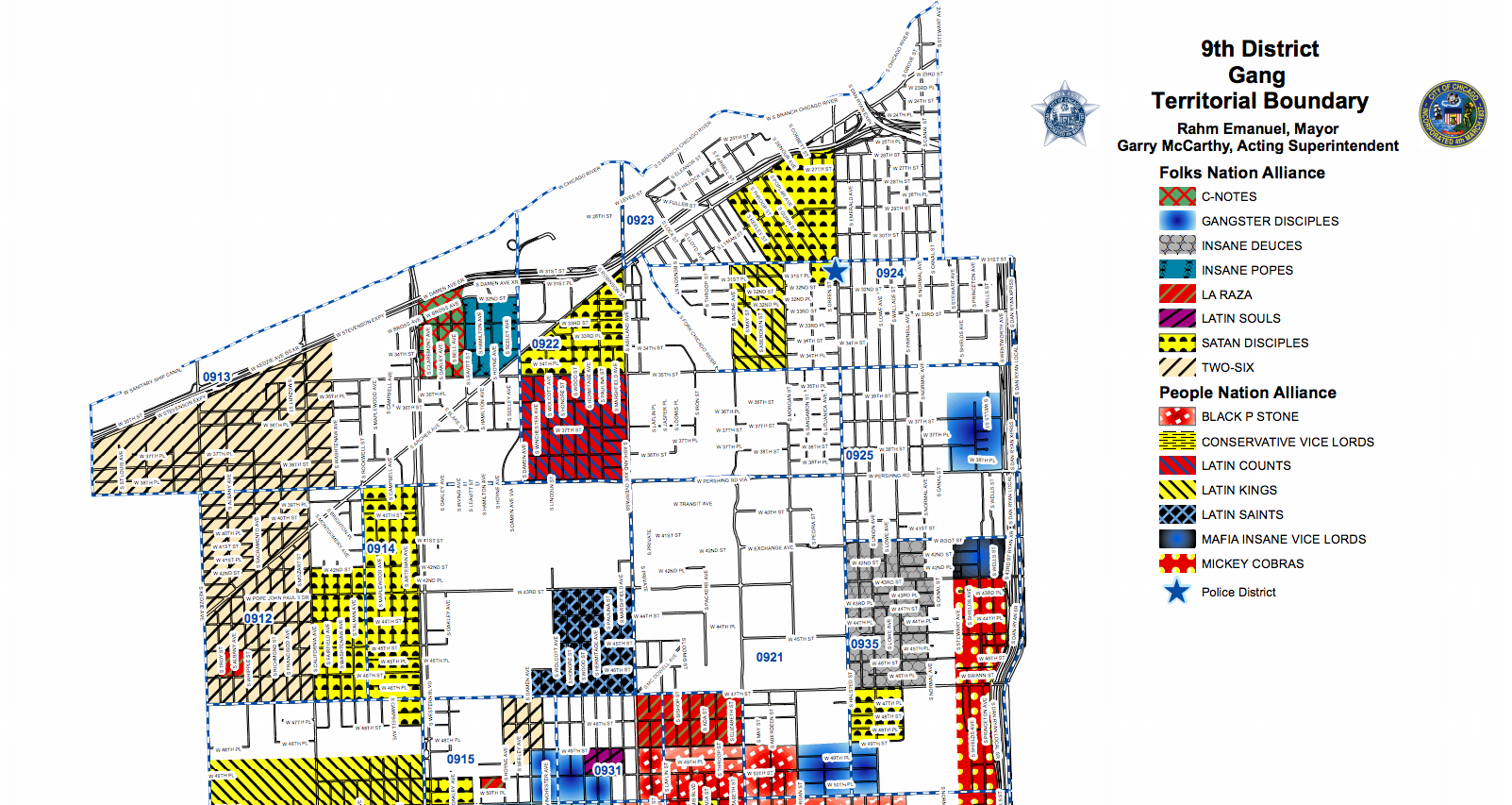 Chicago gang map 2016