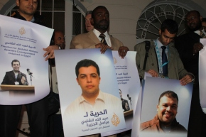 Demonstration to free Detained Al Jazeera Journalists