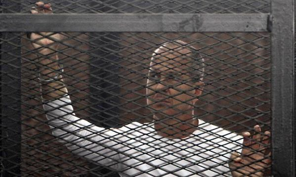 Peter Greste in court in Cairo. Reuters / Via theguardian.com